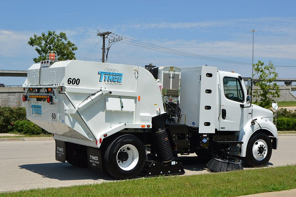 Maryland, Virginia, Washington D.C. Official Street Sweeping and Power Sweeping Services Provider with a Tymco 600 Regenerative Air Sweeper